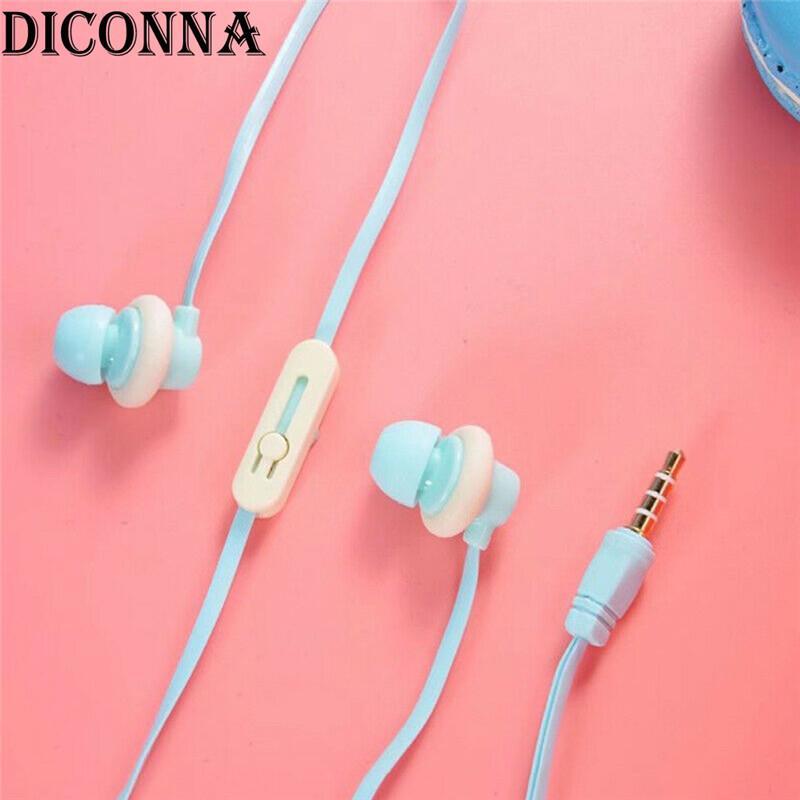 التصميم الإبداعي لطيف سماعات ماكارونس دونات الكرتون سماعات سدادات الأذن المحمولة 3.5 ملم صوت عالية الجودة سماعات الأذن