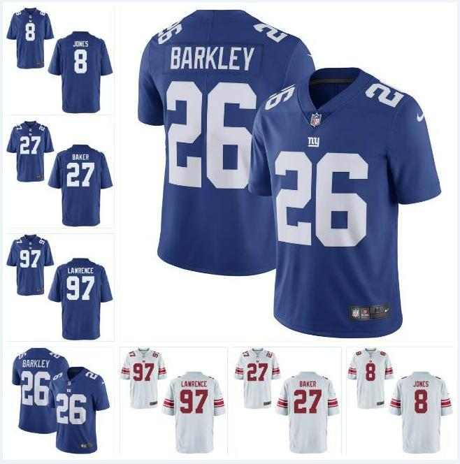 2ef9fb76997 2019 Draft  8 Daniel Jones Jersey  97 Dexter Lawrence  27 Deandre Baker  Mens Saquon Barkley All Stitched American Football Jerseys Elite Mens From  Fr444
