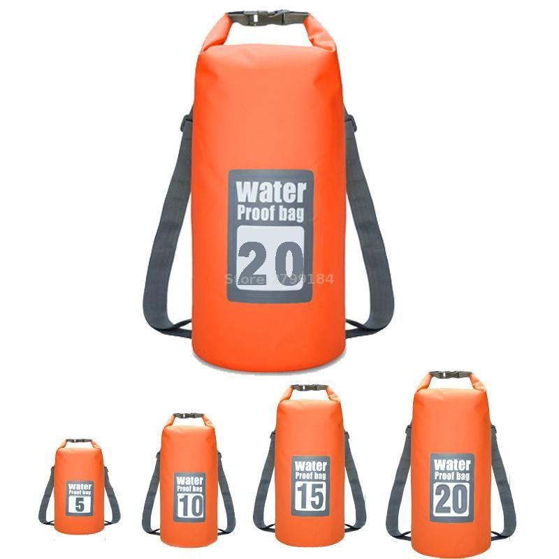 b0dbb15adec 2019 5L 10L 15L 20L Waterproof Bags Storage Dry Sack Bag For Canoe Kayak  Rafting Outdoor Sport Swimming Bag Travel Kit Backpack  532555 From  Feiteng010