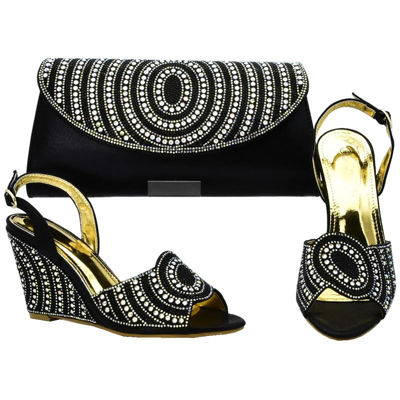 8413c8645fa0 Matching Italian Shoes And Bag Set Decorated With Rhinestone Ladies Shoes  And Bag Set For Wedding Women African Party Shoes And Bag Shoes Online  Basketball ...