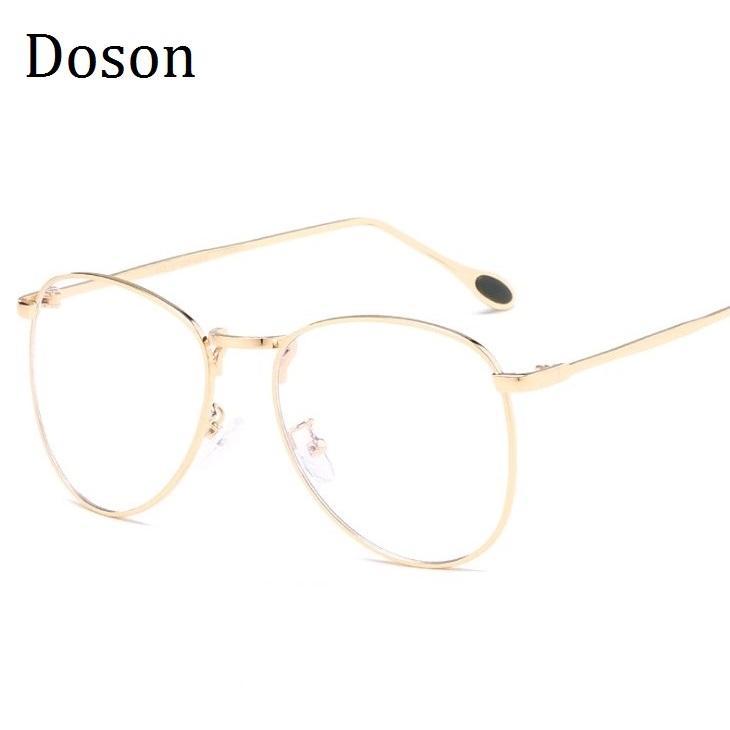 de141d7afa Classic Clear Glasses Men Women Fashion Optical Eyeglasses Frame Metal  Frames Eye Glasses Anti Blue Ray Goggle Eyewear UK 2019 From  Marquesechriss