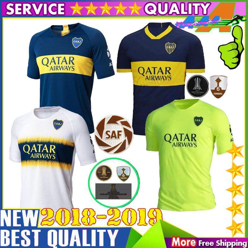 f64612357 2019 Boca Juniors Soccer Jerseys PAVON BENEDETTO CARDONA TEVEZ HOME ...