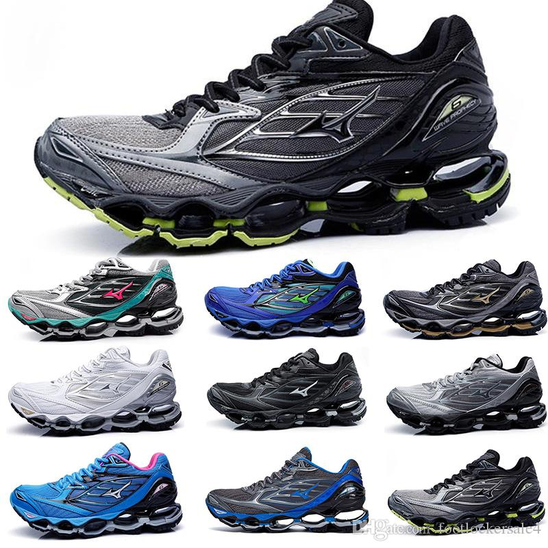 best service de4bb 1dea3 2019 2019 Mizuno Wave Prophecy 6 Running Shoes Classic Mens Designer For  Men Hot Authentic Sports Women Trainers Sneakers Shoes Size 36 45 From ...
