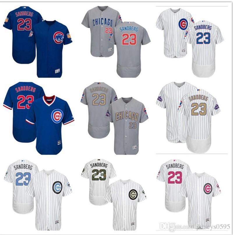 2019 2019 Custom Men S Women Youth Majestic Chicago Cubs Jersey  23 Ryne  Sandberg Home Blue Grey White Kids Girls Baseball Jerseys From  Jerseyfactory01 ebcda4e49
