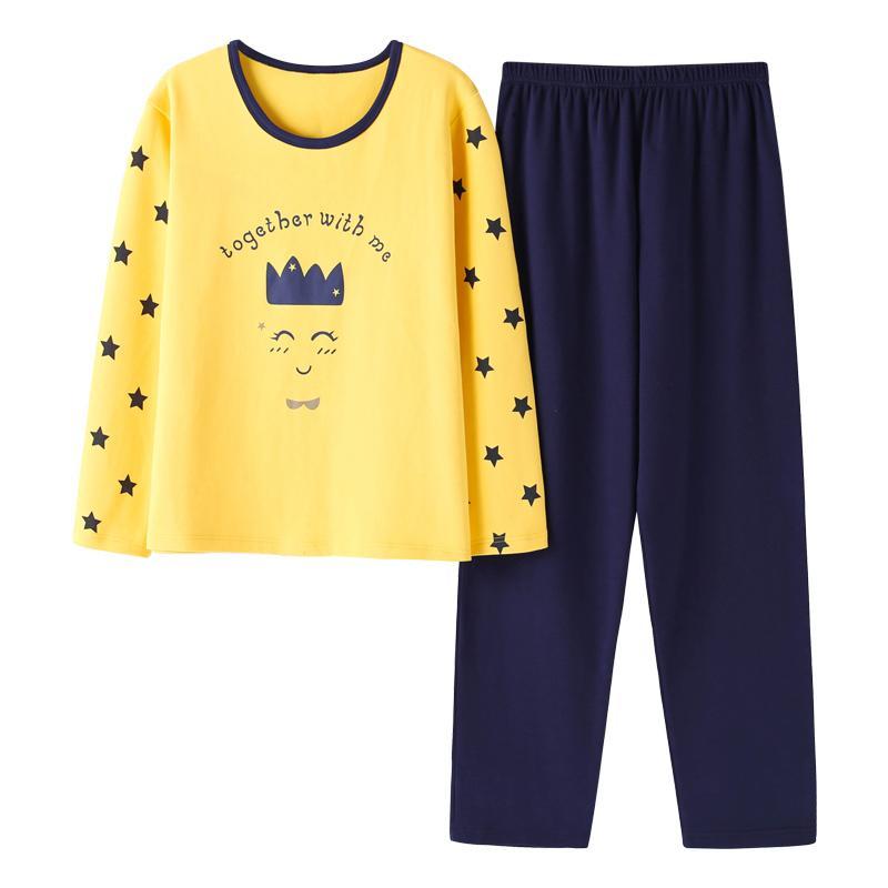 c41984a79da Acheter Pyjamas Pour Femmes Enceintes Taille Et Automne 100% Coton Vêtements  De Nuit À Manches Longues M 4xl Pour Les Filles D impression 100 Kg De   44.19 ...