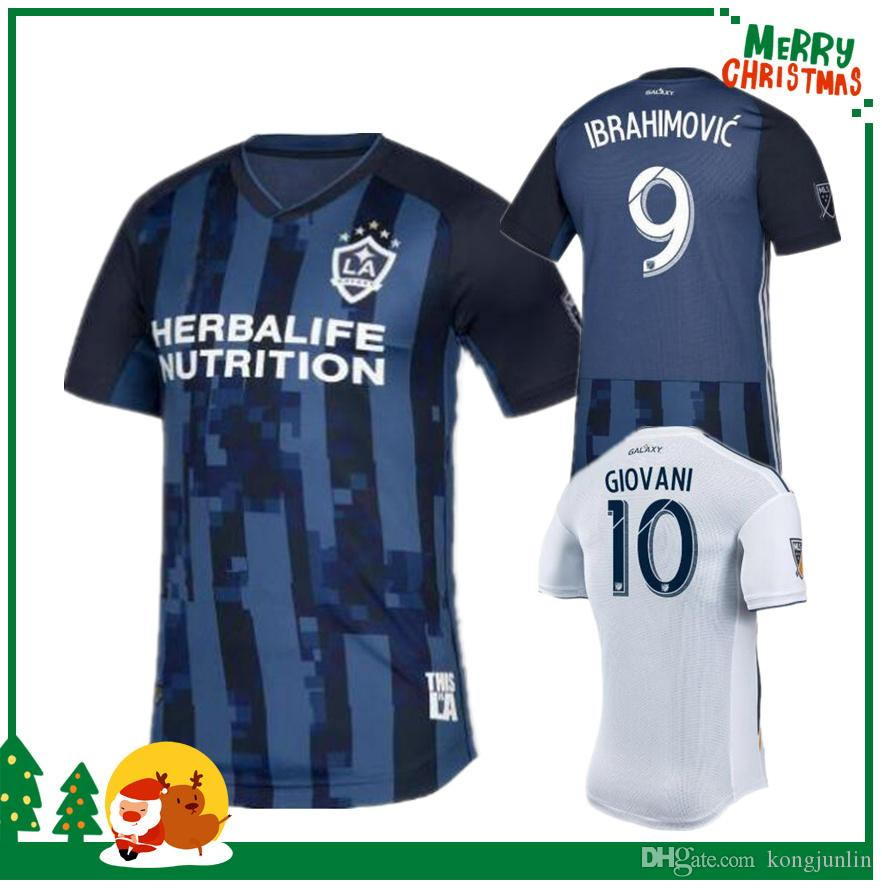 2019 MLS 2019 Los Angeles Galaxy Home Soccer Jersey 2019 Galaxy White  Soccer Shirt IBRAHIMOVIC GIOVANI Football Uniform Sales From Kongjunlin c92b41cc9