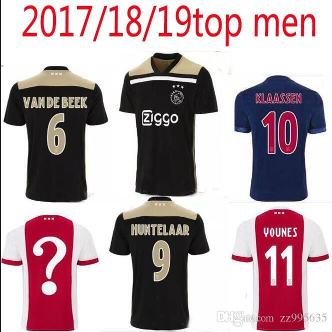 697f8bcdd 2018 2019 Ajax Soccer Jersey Home ZIYECH Home Football Shirt DOLBERG  HUNTELAAR Camiseta 18 19 Ajax Amsterdam Maillot VAD DE BEEK SCHONE UK 2019  From ...