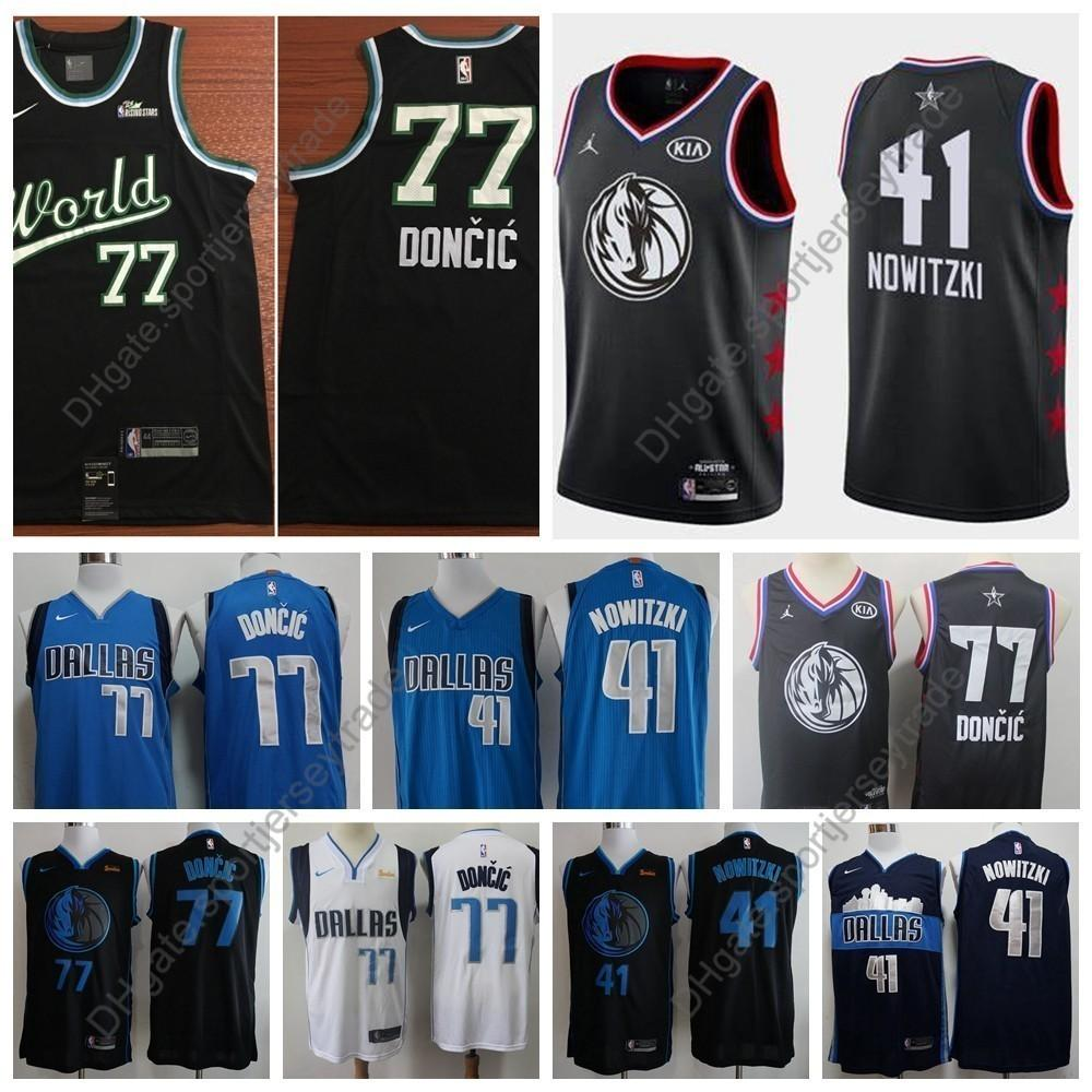 7df1642f49b 2019 2019 World All Star Men  77 Dallas Dirk Nowitzki Luka Doncic Mavericks  Edition Basketball Jersey City Luka Doncic Top Quality Stitched S XXL From  ...