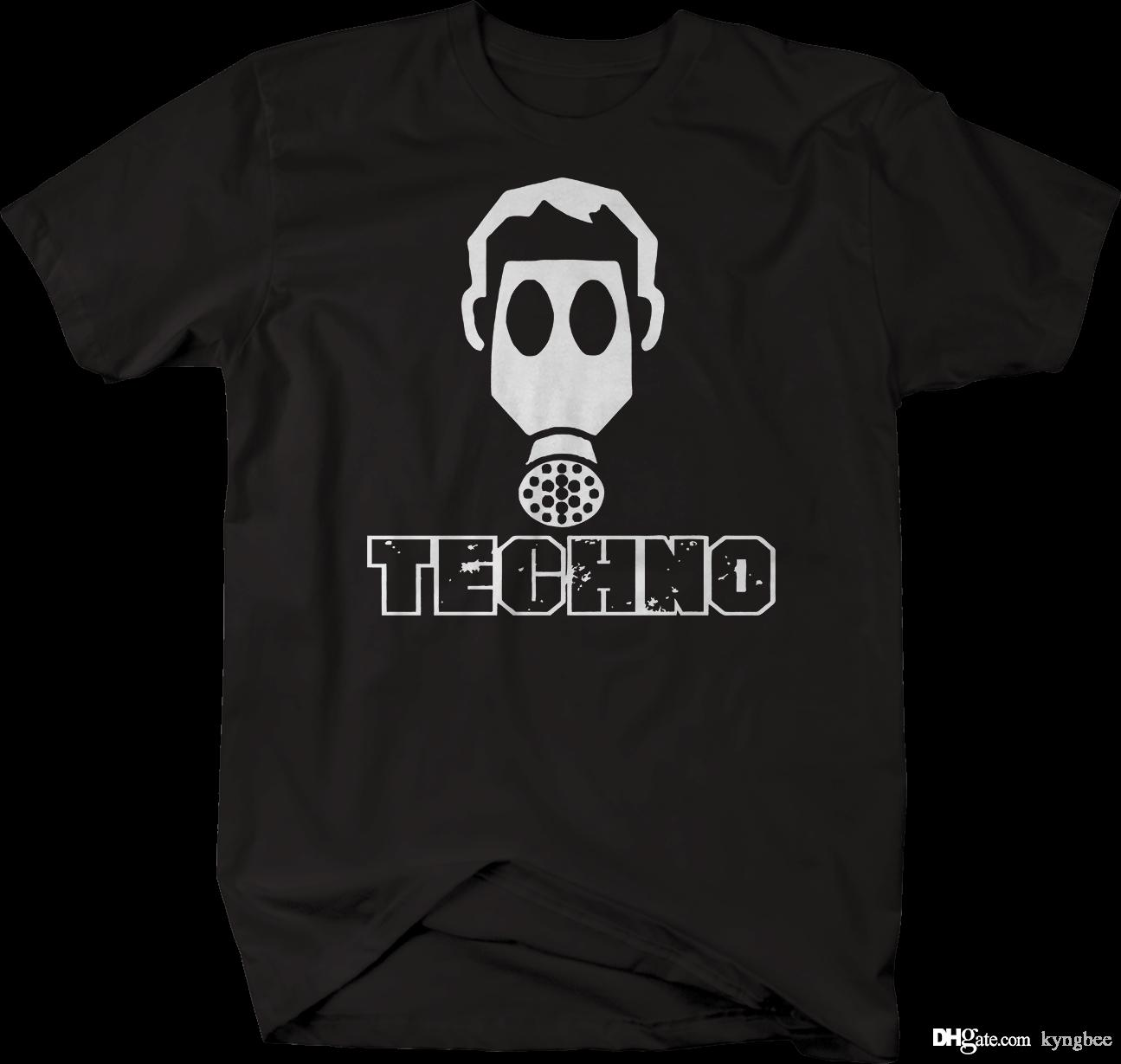 3669ca666 Techno Dance Gas Mask Tshirt Hilarious Tee Shirts Online T Shirt Buy From  Kyngbee