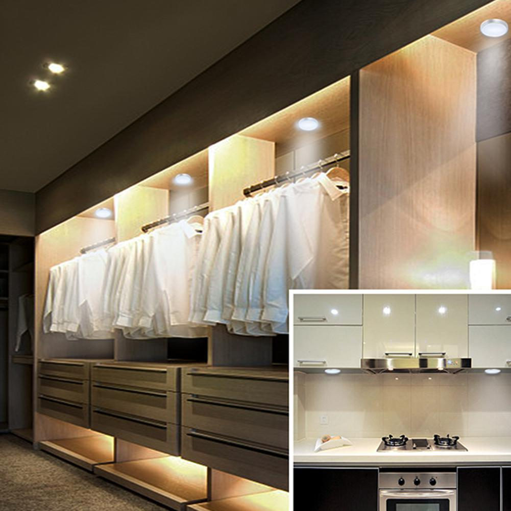 2019 SOLLED LED Under Cabinet Lighting Kit With Switch Puck Lights