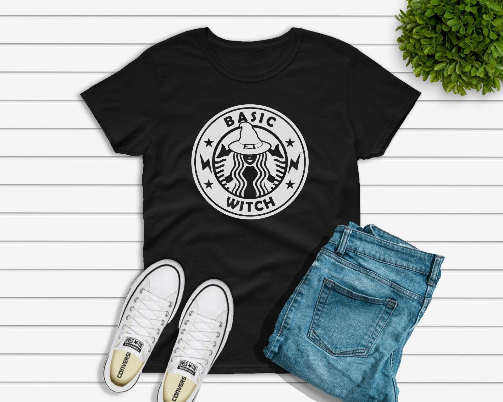 b25399ace5f Basic Witch Halloween Starbucks T Shirt Or DIY Transfer Womens Unisex UK  Seller Funny Unisex Cheap T Shirts For Sale Online One Day Only T Shirts  From ...