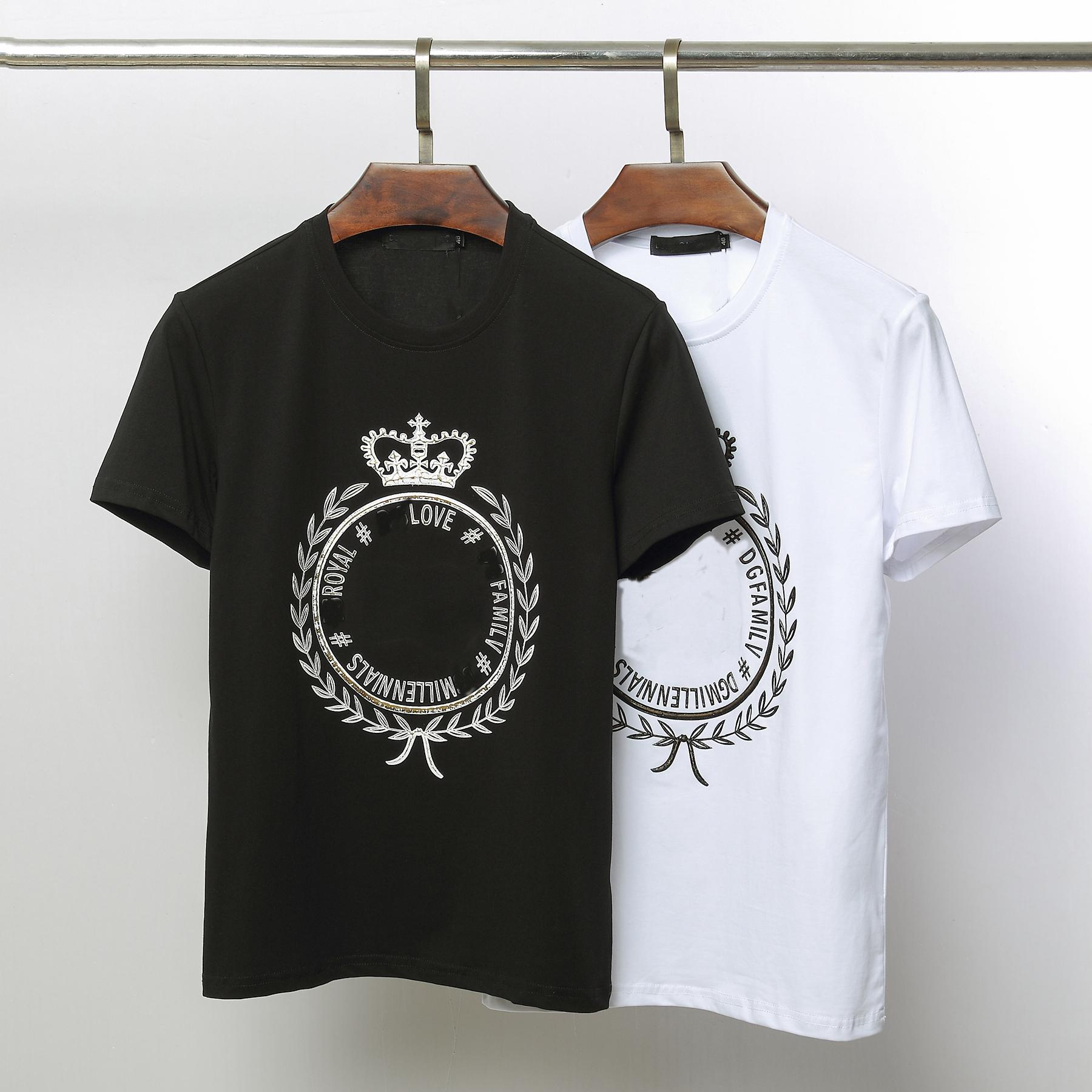 74580e75 Mens Designer T Shirt Brand Women Men Tees New Arrival Summer Crown Pattern T  Shirt Luxury Casual Mens Womens Tees Shirts New Top Clothing Dirty T Shirts  ...