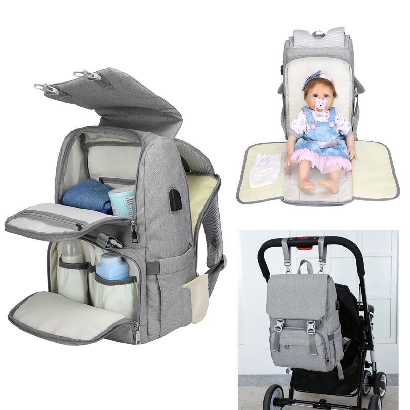 5efa52eb02 2019 2019 Fashion Mummy Maternity Diaper Bag Large Nursing Travel Backpack  Stroller Baby Bag Multi Function Baby Care Nappy Backpack From Singnice, ...