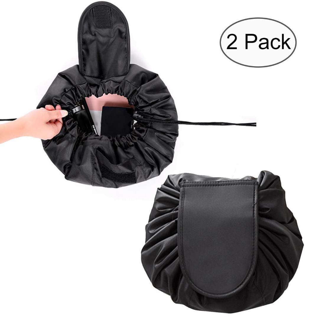 b633a26b084f Lazy Makeup Bag Drawstring Cosmetic Bag Portable Quick Pack Travel ...