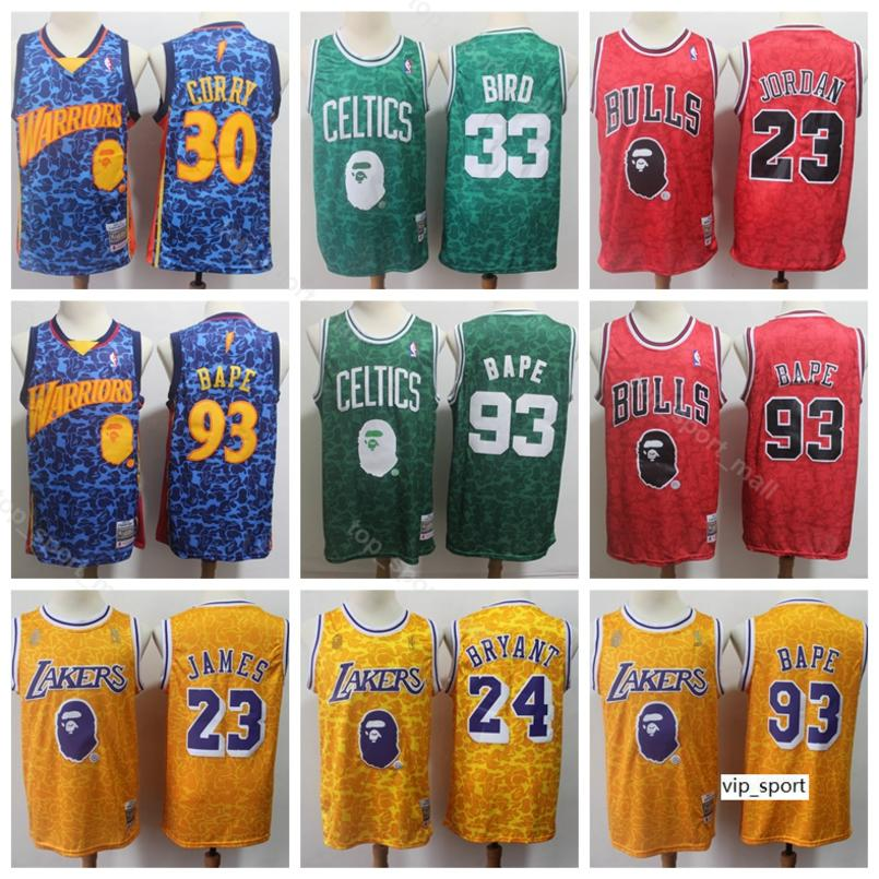 huge discount 6f703 c8ef2 Men Larry Bird Jersey LeBron James Kobe Bryant Michael Stephen Curry  Basketball Jerseys Home Blue Red Yellow Green Shirts Uniform