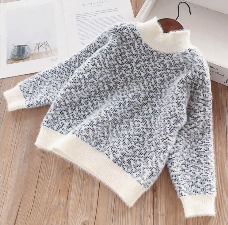 d25b756f5 Christmas Winter Girl Knitted Floral Sweater Kids Clothing Knitting ...