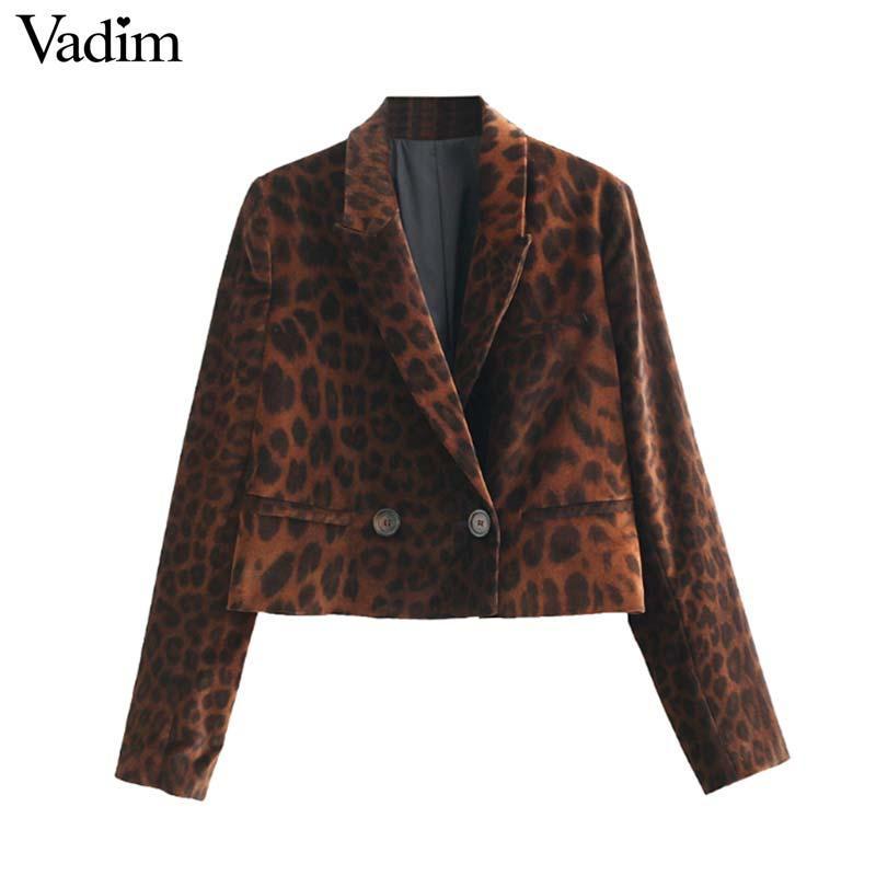 Terciopelo Mujer Chaqueta Estampado De Vadim Leopardo Compre Sq1XwX
