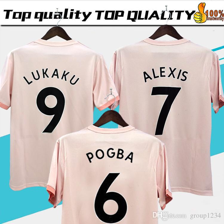 263754dbf 2019  6 POGBA Away Soccer Jersey 18 19  9 LUKAKU Soccer Shirt 2019  7 ALEXIS   10 RASHFORD  14 LINGARD Club Team Football Uniforms Size S XL From  Group1234