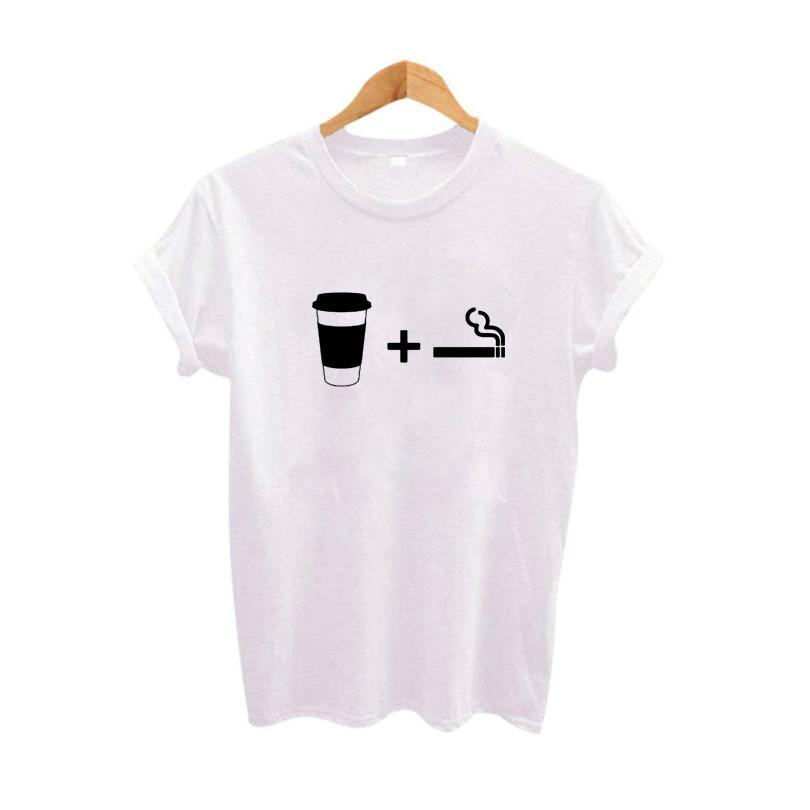 4a6f919d14f6 Women S Tee Tumblr T Shirt Womens Streetwear Hip Hop Harajuku Print T Shirt  Coffee Cigarettes Funny T Shirts Black White Graphic Tee Shirt Personalised  T ...