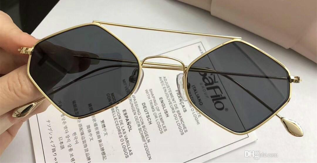 decc57beb7 Luxury FIXXATIVE Sunglasses For Women Hexagon Special UV Protection ...