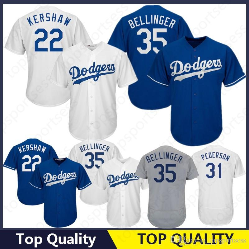 9562d168a50 2019 Los Angeles Dodgers 22 Clayton Kershaw Jersey 5 Corey Seager 23 Adrian  Gonzalez 66 Yasiel Puig 10 Justin Turner 3 Chris Taylor 31 From  Topsportsess