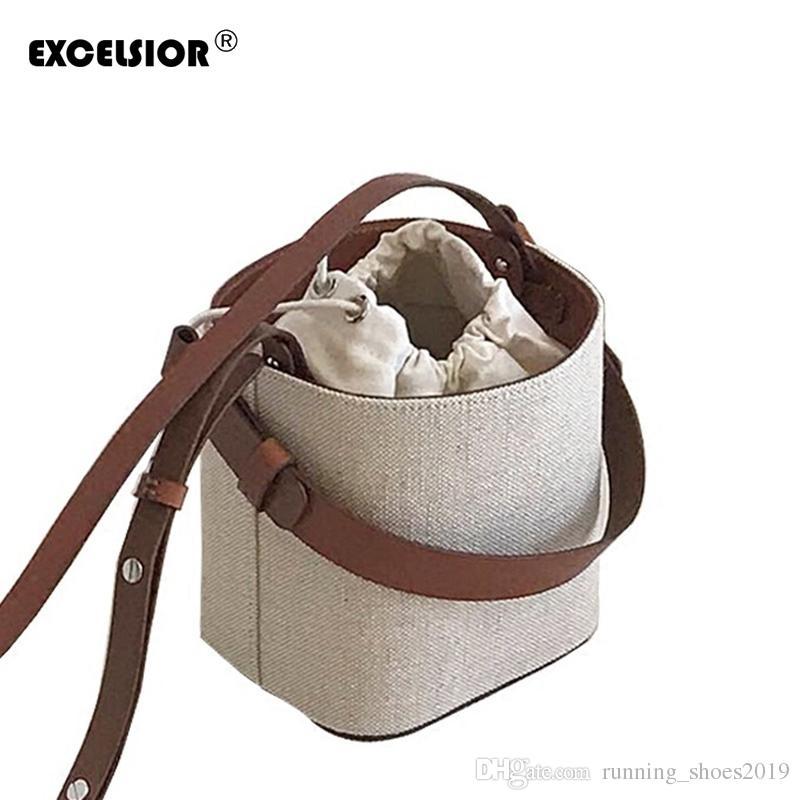 3768596b41727 EXCELSIOR Fashion Bucket Bag Women s Crossbody Bags Beach Handbag Weave  Portable Shoulder Messenger Bag with Detachable Strap #94304