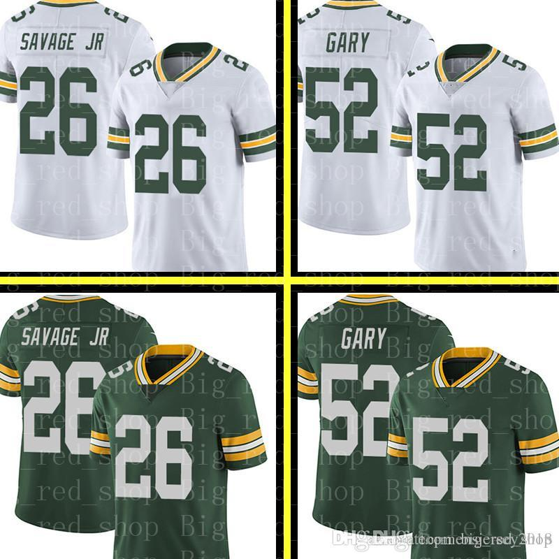 new products e63d8 7ea31 26 Darnell Savage Jr Green Bay Packers 52 Rashan Gary Jersey Mens Green  White 2019 Draft First Round Pick Football Jerseys