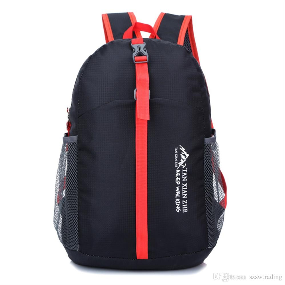 95aff8a88adb Lightweight Packable Backpack Folding Travel Daypack Bag Outdoor Camping  Bags Hiking Cycling Nylon Women Men Skin Pack Rucksack #767946