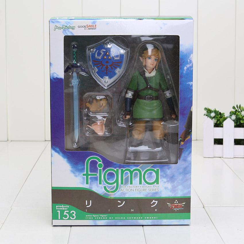 14cm The Legend of Zelda Skyward Link Figma 153 PVC Action Figure Collectible Model Toy