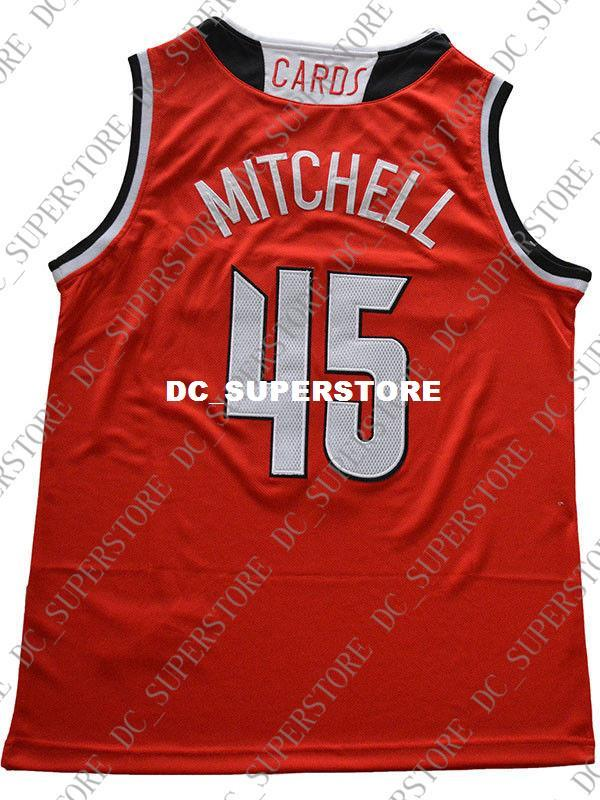 official photos b34ad bce08 Cheap wholesale Donovan Mithcell Jersey 45# Louisville Cardinals Sewn  Basketball Jersey Customize any name number MEN WOMEN YOUTH