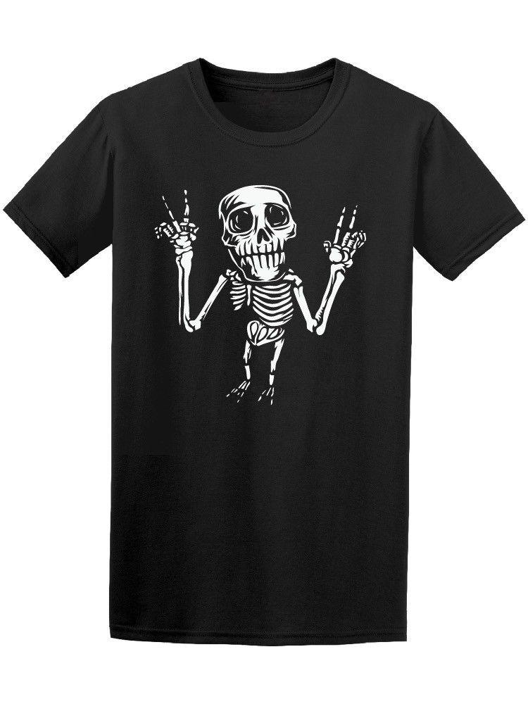 Skeleton Posing Peace And Love Men's Tee -Image by Shutterstock