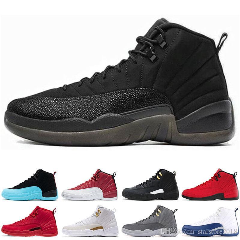 finest selection 1e240 72597 Sandali Sportivi Nike Air Jordan 12 12s Hot 2019 12 12s Uomo Scarpe Da  Ginnastica Sneakers Nero Bianco PLAYOFF THE MASTER Gym Rosso Gamma Blu 12s  Scarpe ...