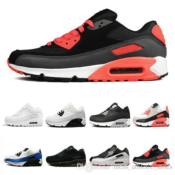 Großhandel Nike Air Max 90 Herren Damen Gelb Sneakers Schuhe