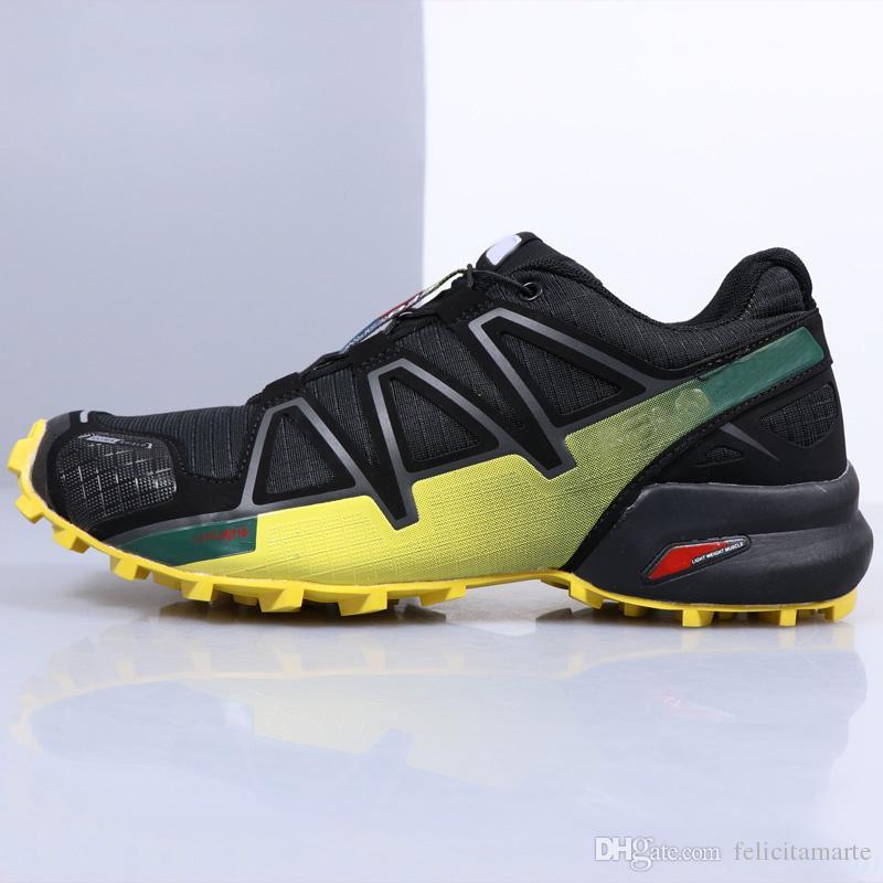 cb92ffaf48e3b 2019 Speedcross 4 GTX Sneakers Black Yellow Gtx Trail Casual Shoes Hombre  Baratos Spain Outlet Zapatillas Negras Plateadas Metallic X From  Felicitamarte