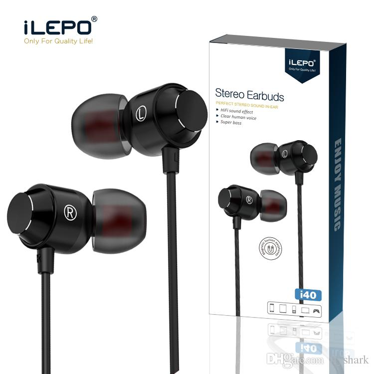 iLEPO Headphones Shock With HIFI In-ear Headphone Noise reduction 360  Dergree Stereo Surround Support One-key For Calling