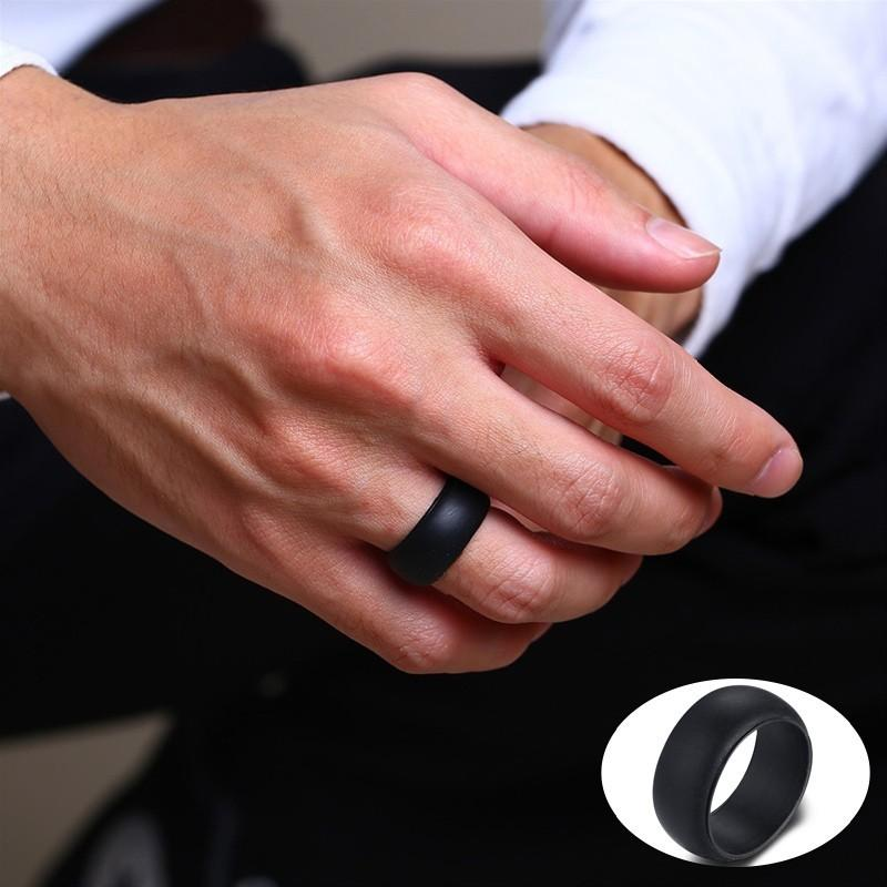 Rubber Wedding Bands.Vnox 9mm Wide Silicone Rings For Men Rubber Wedding Bands 4 Color Options