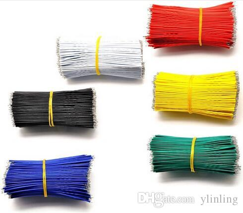 50PCS/LOT Tin-Plated PCB Solder Cable 26AWG 20cm Fly Jumper Wire Cable Tin  Conductor Connector Wire