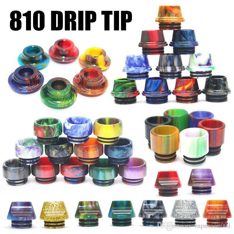 New 510 Drip Tip Epoxy Snake Skin Resin Mouthpiece Cap for TFV8 Baby Melo 3 cool