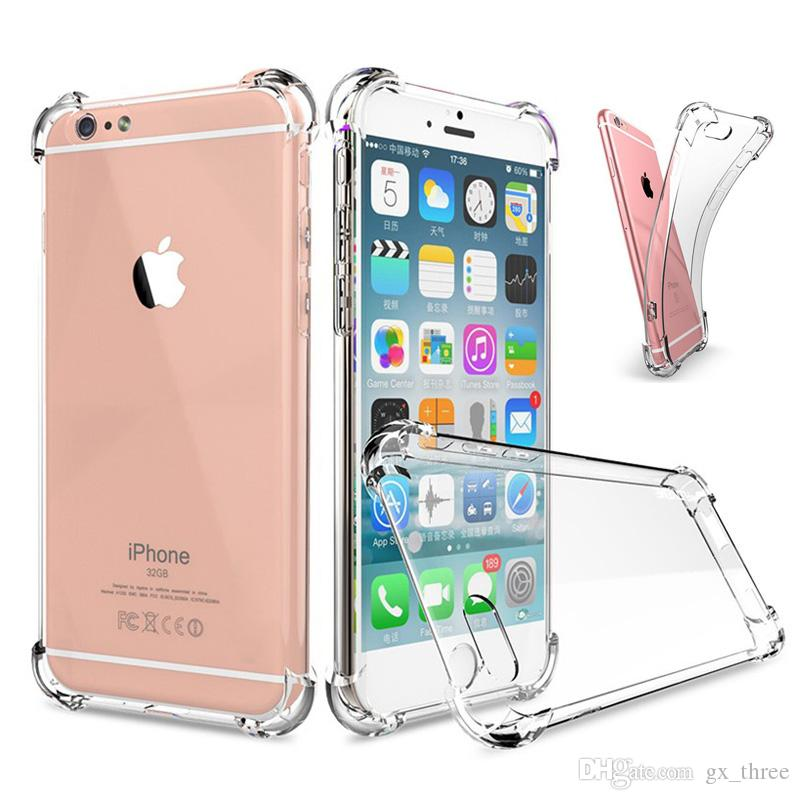 buy popular 37a07 0efd7 Super Anti-knock Transparent Clear Case Soft TPU Case Silicone Protect  Cover Ultra Thin Shockproof Phone shell for IPhone 8 7 Plus X MAX