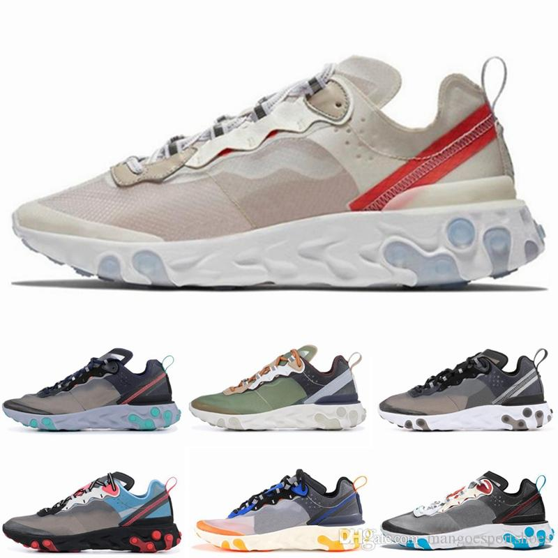 2d5036829440 React Element 87 UNDERCOVER X Upcoming Running Shoes For Men Women White  Black NEPTUNE GREEN Blue Mens Trainer Designer Sports Shoes Trail Shoes  Shoes ...