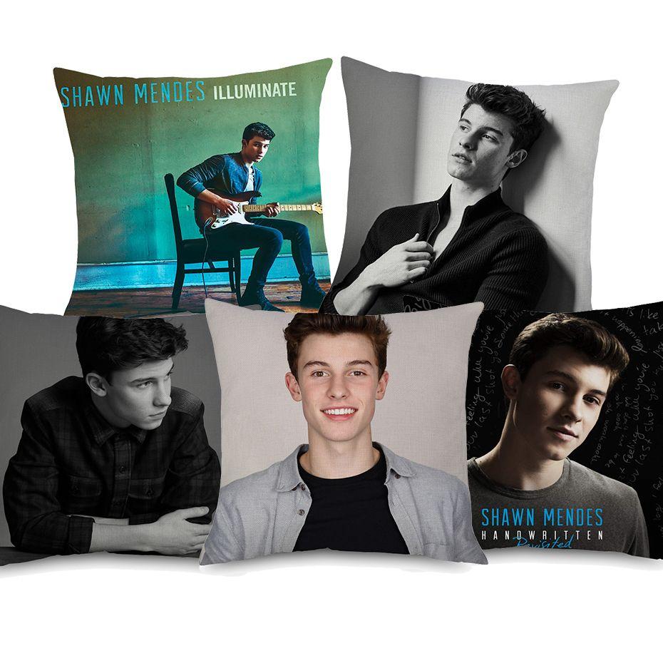 Shawn Mendes Kissenbezüge Music Star Portrait Dekorative Kissenbezug Dekorative Leinen Kissenbezug Für Sofa Couch