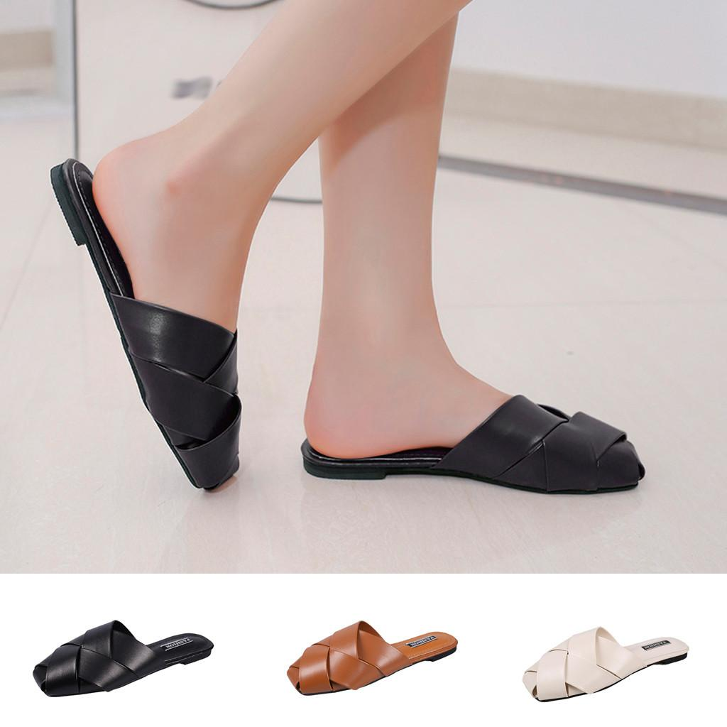 18c8dee6ba356 Women s Vintage Hand-knitted Slippers Fashion Home Flat Casual Shoes summer  slippers women 2019 flip flops women