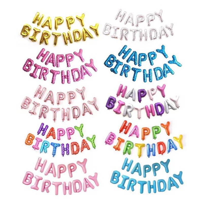 Grosshandel Alles Gute Zum Geburtstag Ballon Luft Buchstaben Alphab
