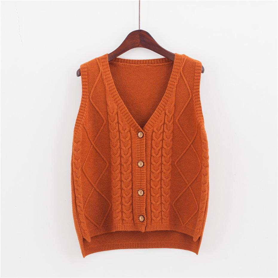 0251a9c46 Womens Knitted Cardigan Buttons Down Sweater Sleeveless Vest Loose Cute  Fashion Casual For Autumn Winter Uvtt-1602161