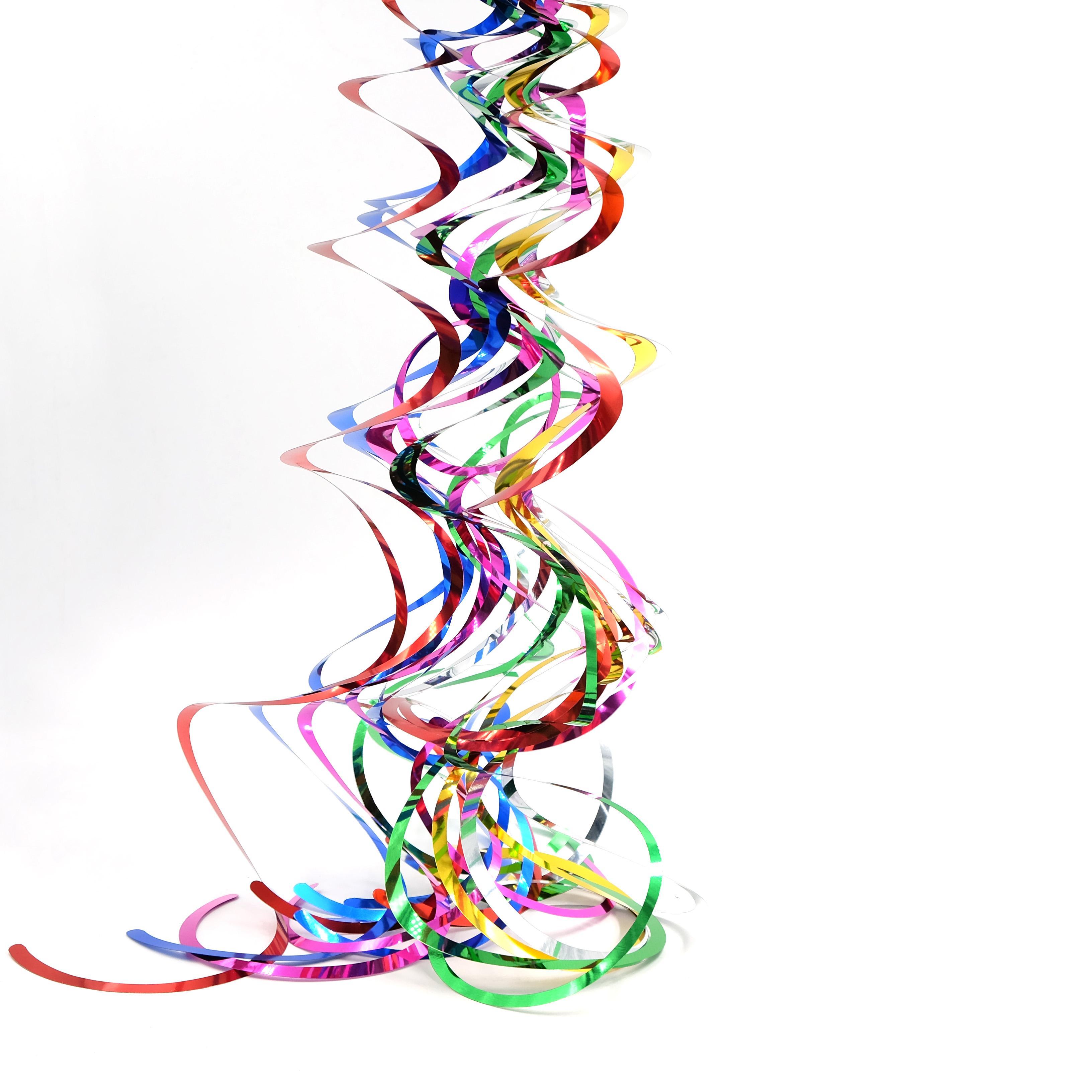 6 шт. Потолочные Висячие Вихрем Украшения Металлик Для Свадьбы Рождество Хэллоуин День Рождения Украшения Baby Shower Мальчик