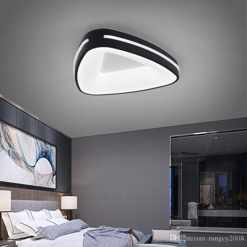 Circular modern led ceiling lights for living room bedroom study room white or black 95-265V square ceiling lamp with remote control
