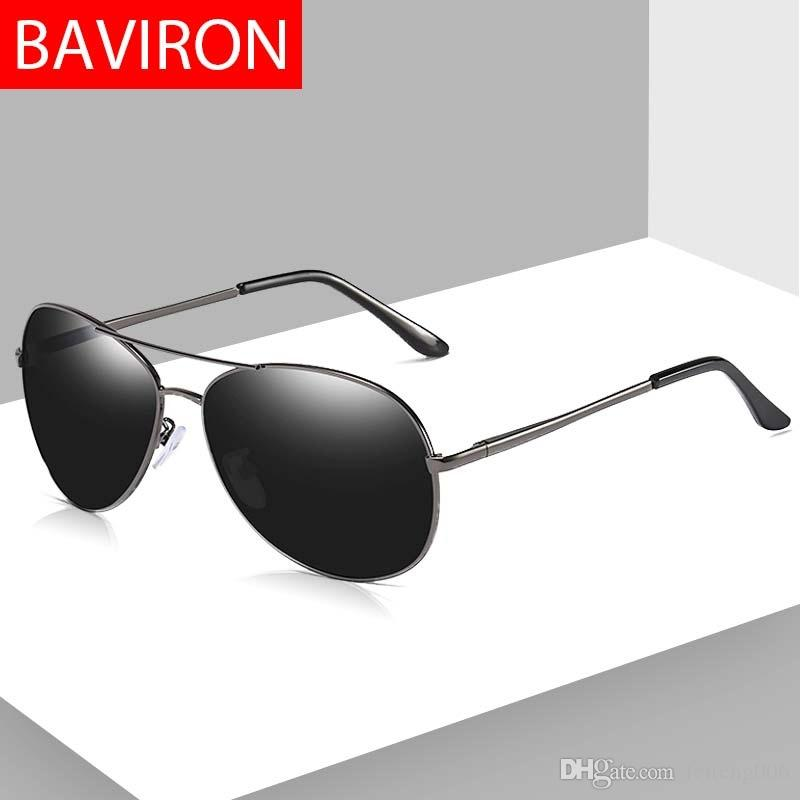 453e9cd84b 2019 BAVIRON Aviation Sunglasses Men Polarized Designer Pilot Mirror  Sunglasses Women Uva Uvb Uv100 Driving Polarized Sun Glass Man  16051 From  Feiteng006
