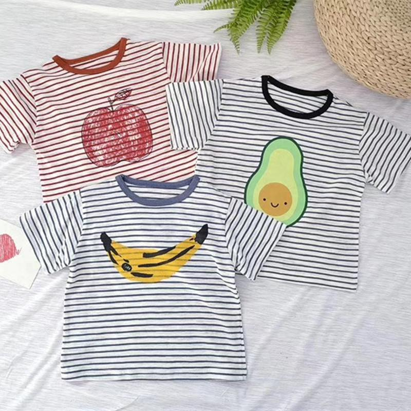 2019 2019 Summer Kids T Shirts Boys Clothes Cotton Short Sleeves Striped  Fruit Printing T Shirt Baby Girls Tops Tees Bobo Choses From Cynthia07 5af10251862a