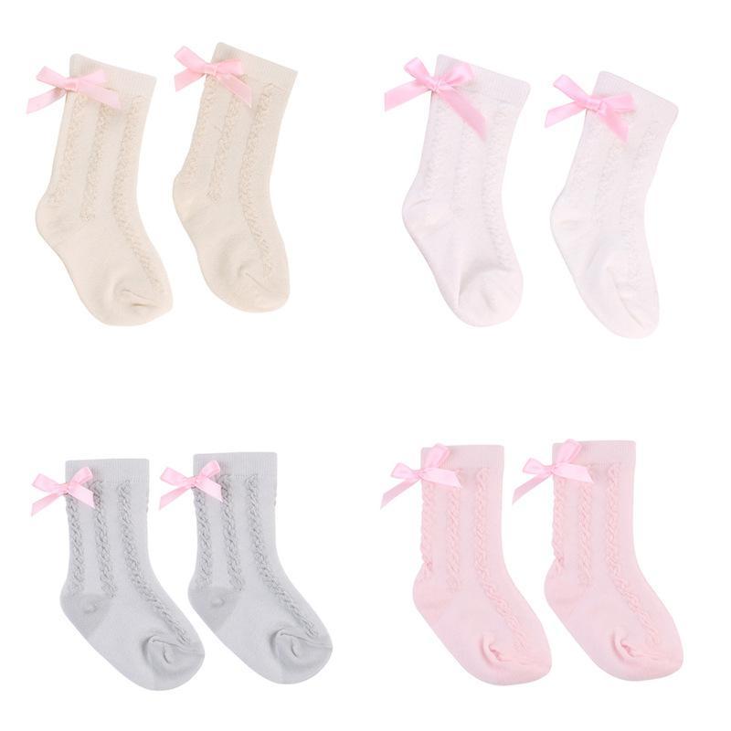15bd0e071ff Bow Lace Baby Girls Socks Newborn Striped Cotton Kids Girls Sock ...