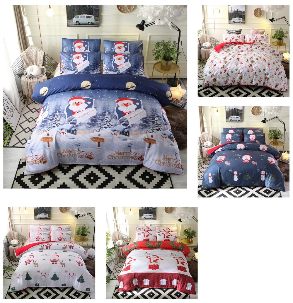 35c2a456046 Gift Merry Christmas Santa Claus Reindeer Snowman Pattern Duvet Cover Set  Pillow Case EU US Size Bedding Sets Cheap Bedding Sets Free Shipping Gift  Merry ...